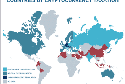 Cryptocurrency tax map